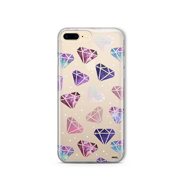 Galatic Diamonds iPhone 7 Plus Case Clear