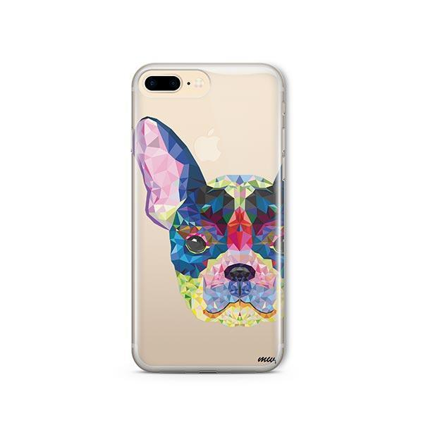 Geometric Frenchie - iPhone 7 Plus Clear Case