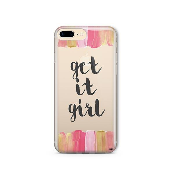 Get It Girl iPhone 8 Plus Case Clear