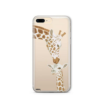 Giraffe Love - iPhone Clear Case