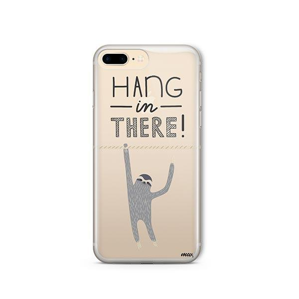 Hanging Sloth iPhone 8 Plus Case Clear