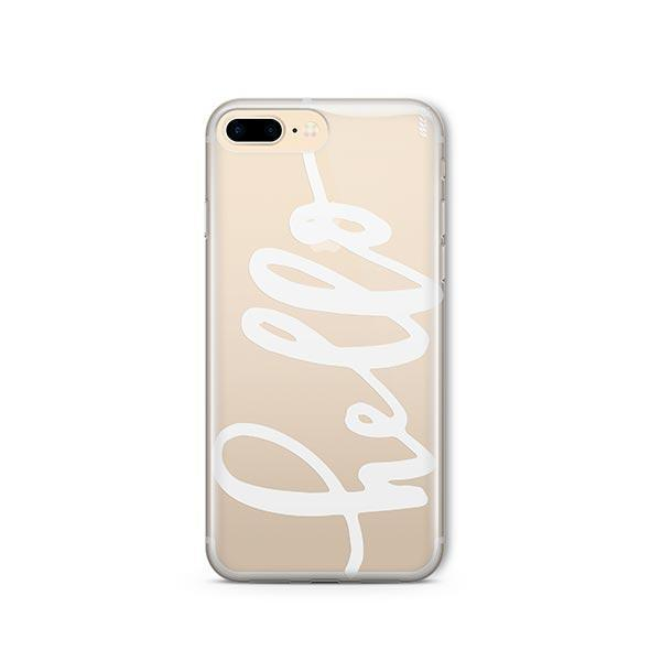 Hello iPhone 8 Plus Case Clear