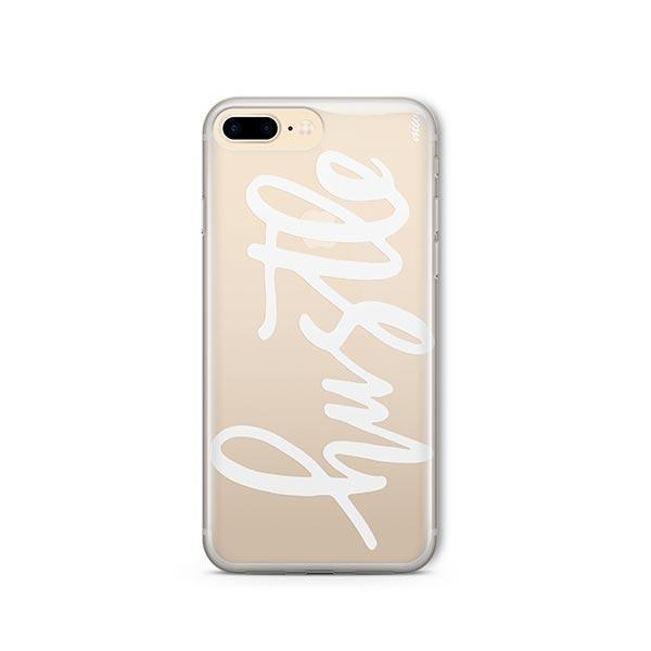 Hustle in White iPhone 7 Plus Case Clear
