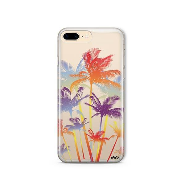 Hipster Palm Tree iPhone 7 Plus Case Clear