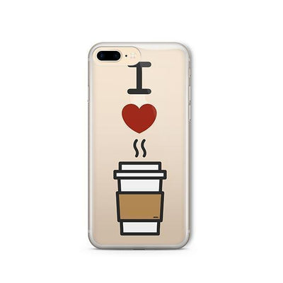 I Love Coffee - iPhone Clear Case