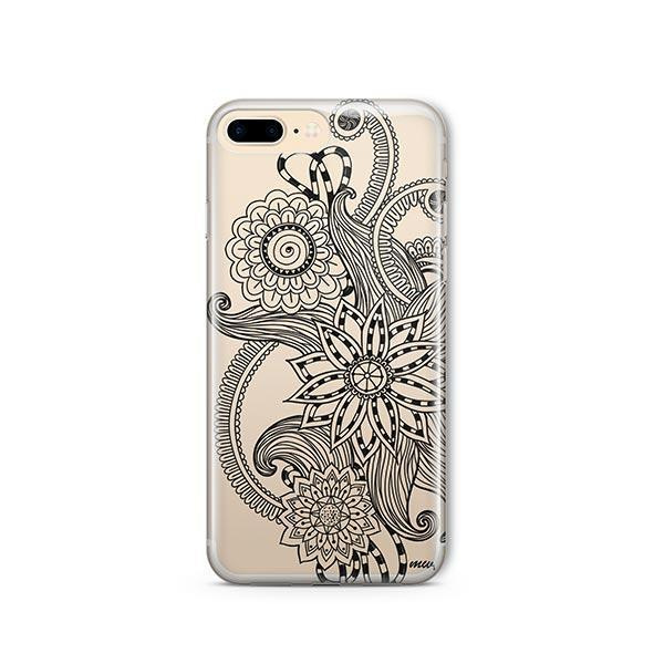 Mehndi Henna iPhone 8 Plus Case Clear