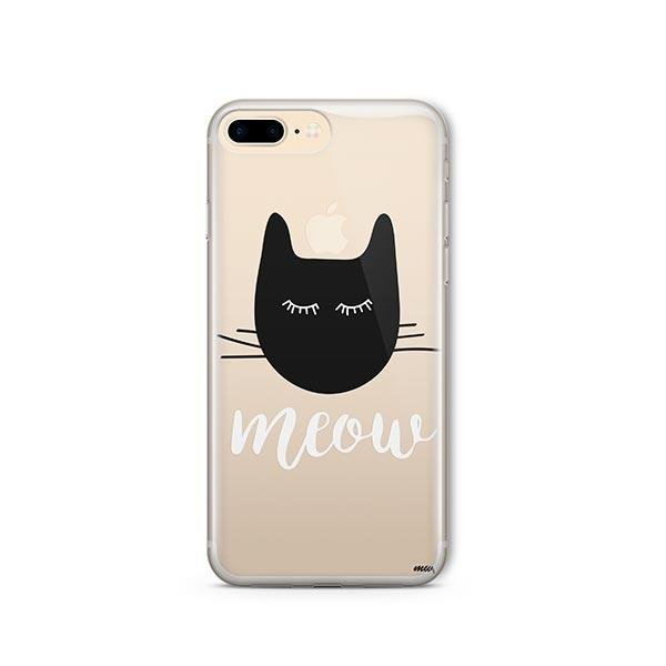 Meow - iPhone 8 Plus Clear Case