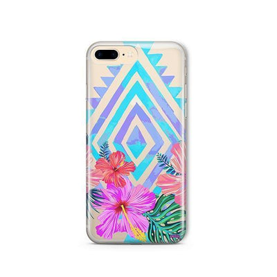 Navajo Hibiscus - iPhone Clear Case