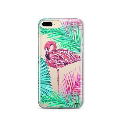 Neon Flamingo - Clear TPU - iPhone Case