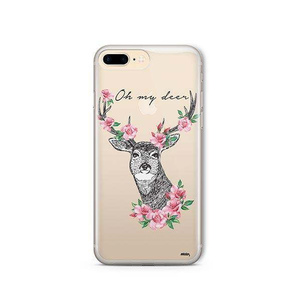 Oh My Deer - iPhone 7 Plus Case Clear