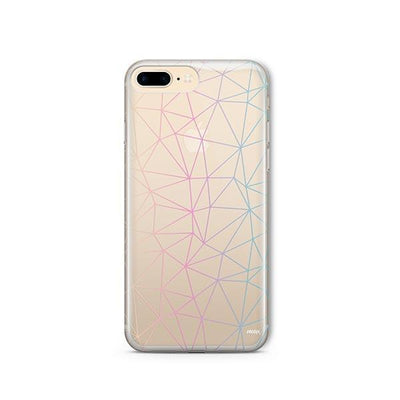Ombre Geo - iPhone Clear Case