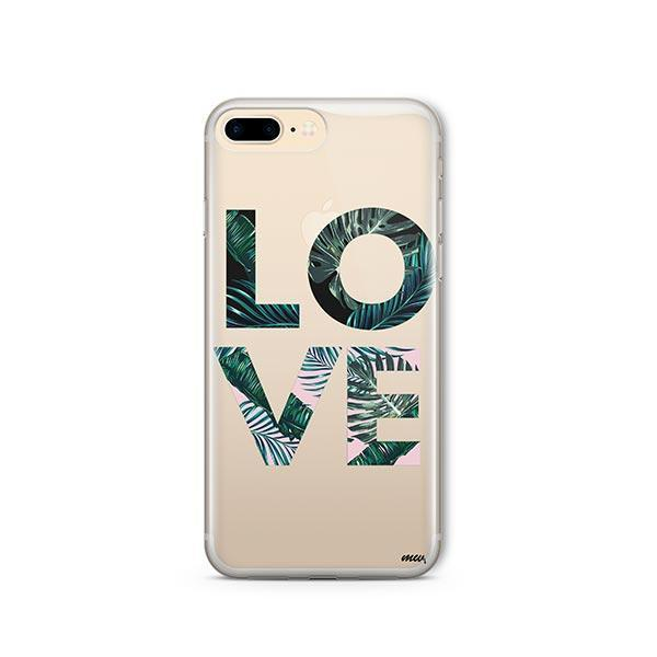 Palm Tree Love iPhone 8 Plus Case Clear