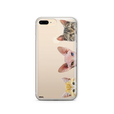 Peeking Cats - iPhone Clear Case