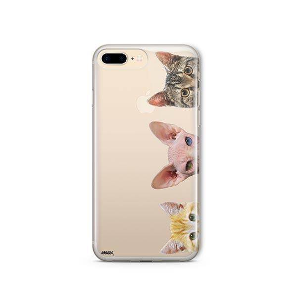 Peeking Cats - iPhone 8 Plus Clear Case
