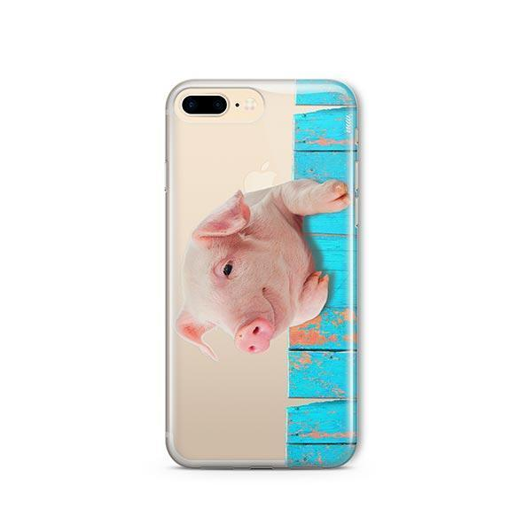 Pig on a Fence - iPhone 7 Plus Case Clear