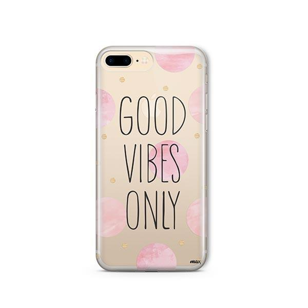 Good Vibes Only iPhone 8 Plus Case Clear
