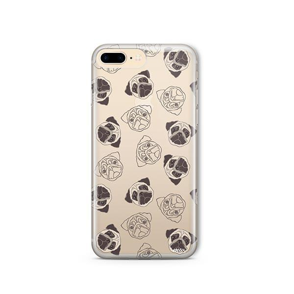 Pug Overload - iPhone 8 Plus Clear Case