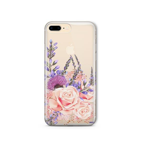 Purple Botanica iPhone 7 Plus Case Clear