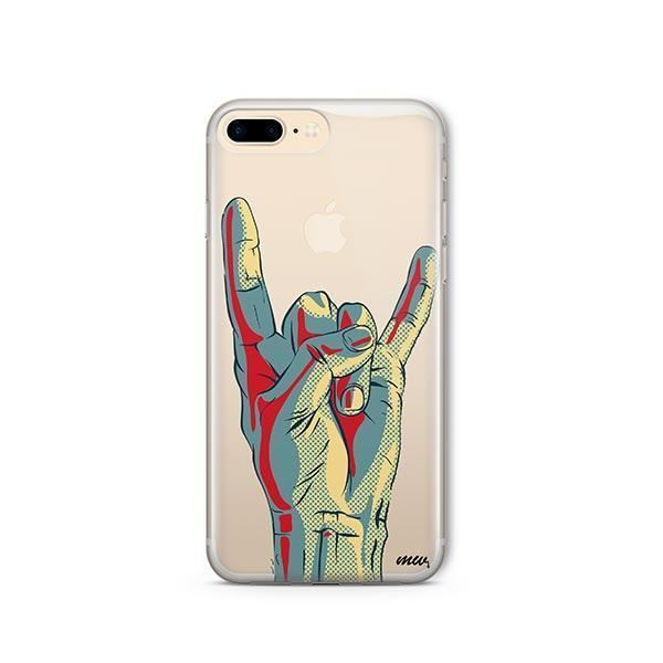 Rock On iPhone 7 Plus Case Clear