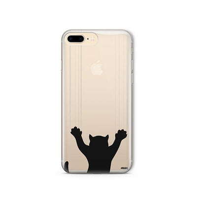 Scratchy Cat - Clear TPU - iPhone Case