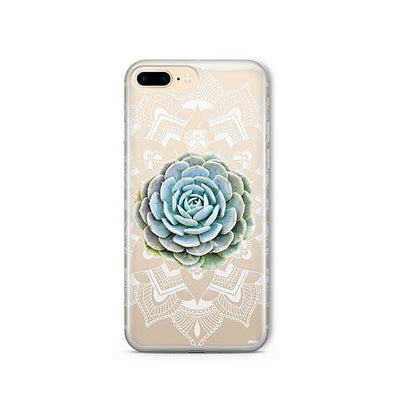 Succulent Mandala - Clear TPU - iPhone Case