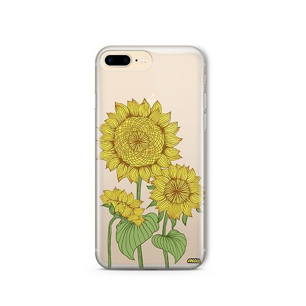 Sunny Sunflower iPhone 7 Plus Case Clear
