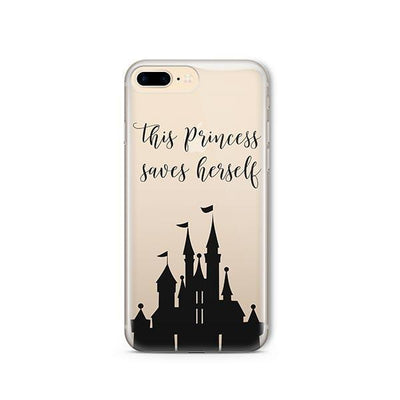The Princess Saves Herself - iPhone Clear Case