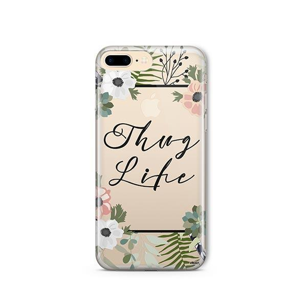 Thug Life iPhone 7 Plus Case Clear