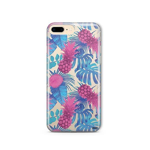 Purple Summertime Pineapple iPhone 7 Plus Case Clear