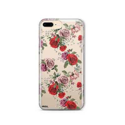 Watercolor Floral Pattern - iPhone Clear Case