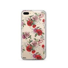 Watercolor Floral Pattern iPhone 8 Plus Case Clear