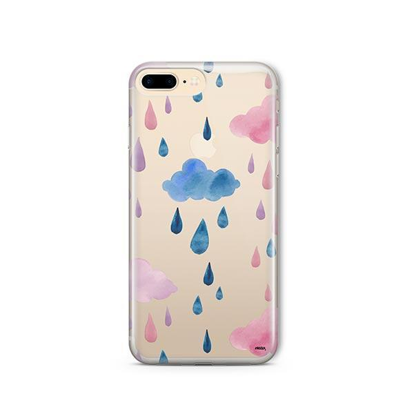 Watercolor Rain iPhone 7 Plus Case Clear