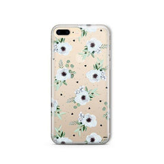 White Blossom iPhone 8 Plus Case Clear