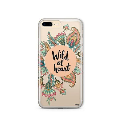 Wild At Heart - Clear TPU - iPhone Case