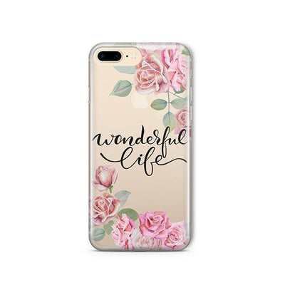Wonderful Life - Clear TPU - iPhone Case