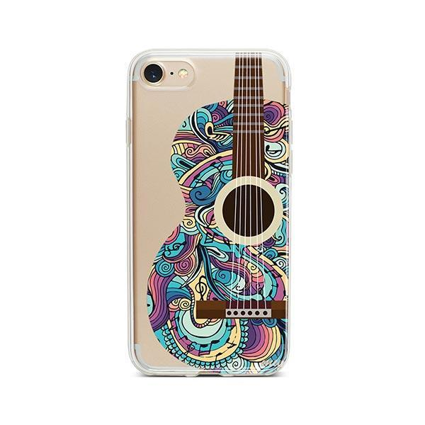 Henna Abstract Guitar iPhone 7 Case Clear