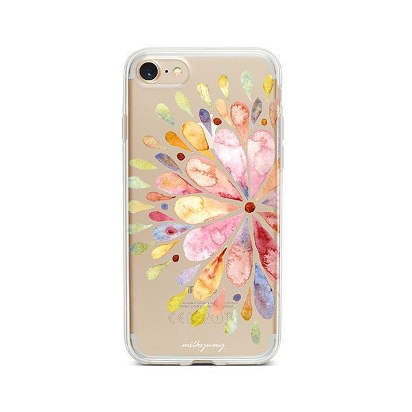 Blissful Mandala iPhone 8 Case Clear