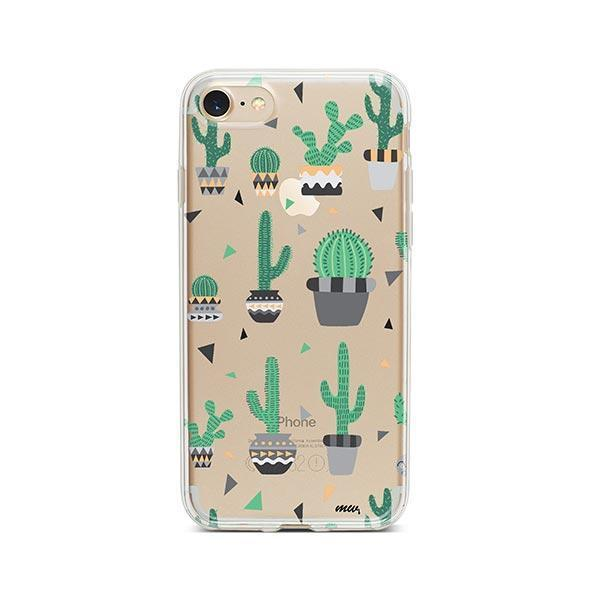 Cactus Party iPhone 8 Case Clear