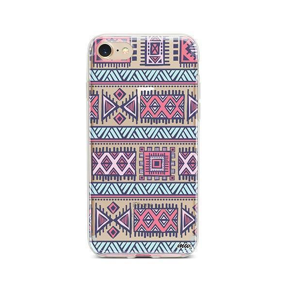 Colored Aztec iPhone 7 Case Clear
