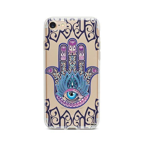 Colored Hamsa iPhone 8 Case Clear
