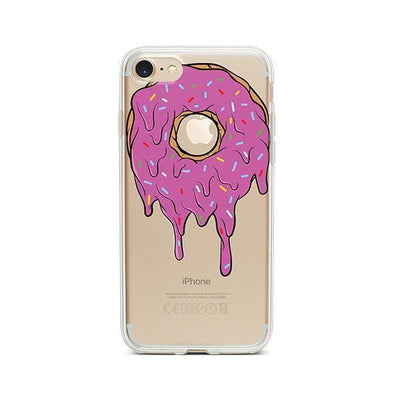 Gooey Donut - Clear TPU - iPhone Case