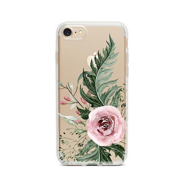 Dusty Pink Rose iPhone 8 Case Clear