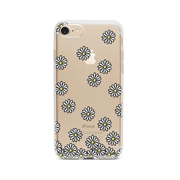 Falling Daisies iPhone 7 Case Clear