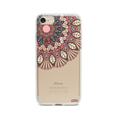 Henna Floral Mandala - iPhone Clear Case