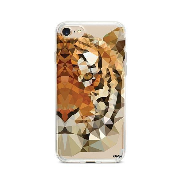 Geometric Tiger - iPhone 7 Case Clear