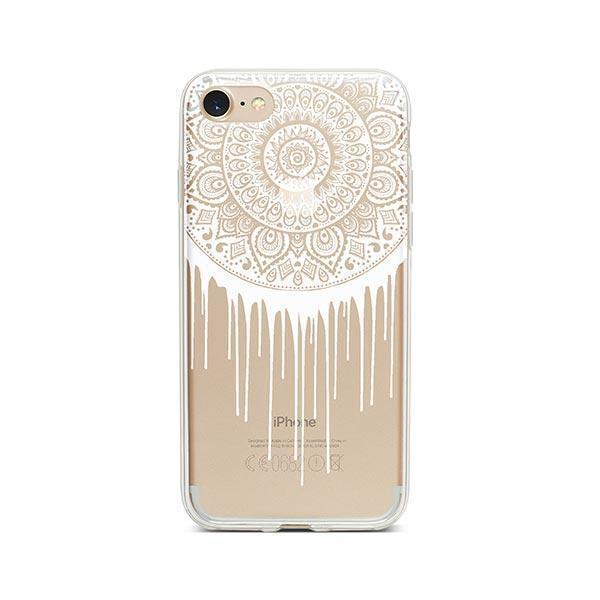 Henna Dripping Mandala Dreamcatcher iPhone 7 Case Clear
