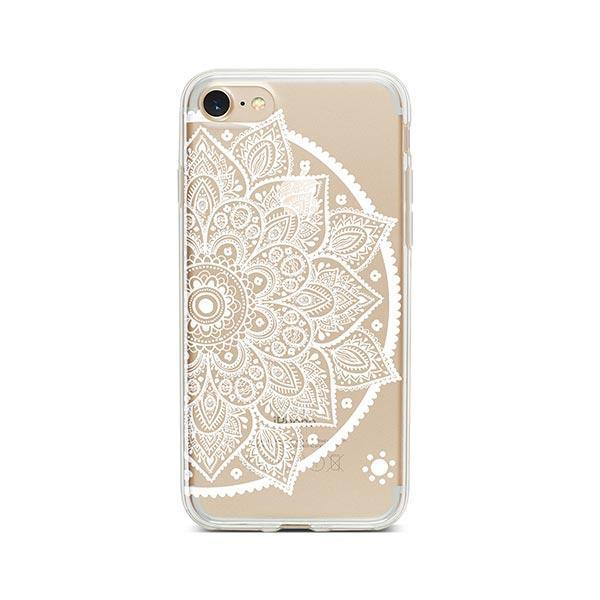 Henna Lotus Mandala iPhone 7 Case Clear