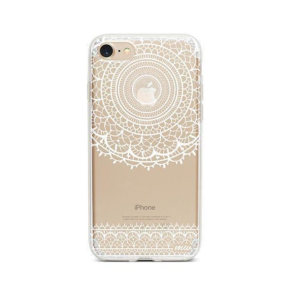 Mandala Sun Lace iPhone 7 Case Clear
