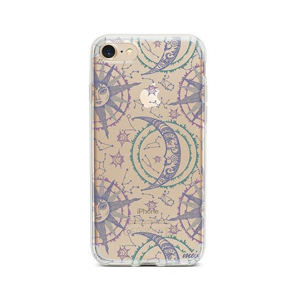 Henna Crescent Sun and Moon iPhone 7 Case Clear