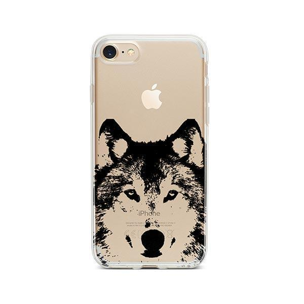 Henna Wolf - iPhone 7 Case Clear